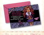 Convite Monster High - Clawdeen Wulf