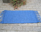 Tapete de sisal e barbante azul royal
