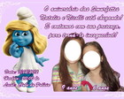 Convite Smurfs e Moranguinho