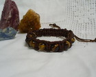 Pulseira Shambala Masculina Olho de Tigr