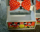 CESTINHA MINNIE MICKEY PERSONALIZADA
