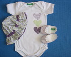 Kit Body Cora��o Lilas