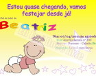 Arte Convite Beatriz