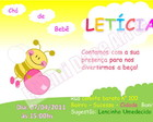 Arte Convite Leticia