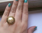 Anel Vintage Flower Pearl