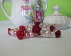 Pulseira Rosa e Prolas