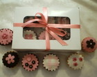 CAIXA COM 6 CUPCAKES PARA PRESENTE