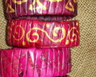 Eco braceletes / pulseiras - ROSA