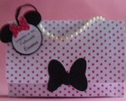 Porta Brinde Festa da Minnie bolsinha