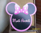 Placa minnie rosa