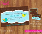 Kit convite+tag ch de beb - ref 030