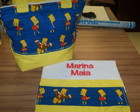 Bolsa + toalhinha Simpsons