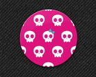 Botton Pink Skull Girls