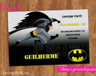 Convite aniversrio Batman - ref.041