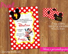Kit convite + tag Minnie - ref 043