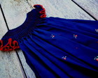 Vestido casinha de abelha azul marinho