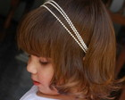 Headband/faixa CINDERELA 3mm CHAMPAGNE