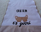 Pano de prato &quot;Beer is Good&quot;