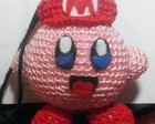 Chaveiro Kirby Chapeu Mario