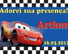 Cartao de agradecimento carros
