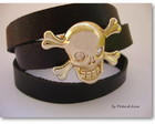 Bracelete Skull in Gold