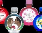 GARRAFINHAS PERSONALIZADAS C/ TAGS 300ML