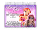 Convite personalizado Ariel Sereia