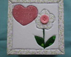 Caixa em patch: Flor de boto decorao