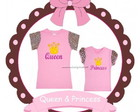 Camisetas M�e Queen e Filha Princess