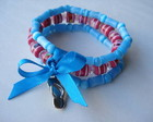 Pulseira infantil de silicone azul