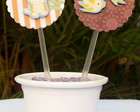 Toppers para cupcake Safari
