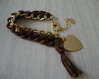 Pulseira coraes chocolate