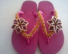 havaiana rosa flor