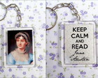 Chaveiro Keep Calm and Read Jane Austen