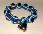 Pulseira Pedra Murano e Pingente Corao