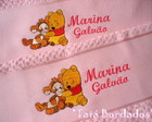 Jogo de Toalhas Ursinho Pooh - Rosa