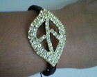 Shamballa Folha da Paz Cravejado Strass