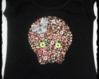 Blusa Caveira Flores