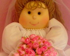 Boneca Noivinha com bouquet