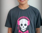 Camiseta caveira headphone