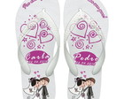 Chinelos Personalizados - Casamento
