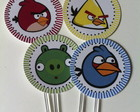 { Angry Birds - Tag cupcakes }