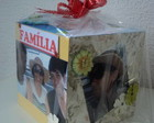 CUBO MDF COM DECORAO EM SCRAPBOOKING