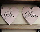 Set de placas para casamento Modelo 4
