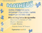 Arte Convite Matheus