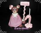 vela   personalizada ursa marrom