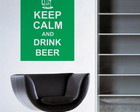 Adesivo Keep Calm and Drink Beer