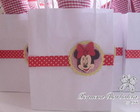 Sacola M papel Minnie