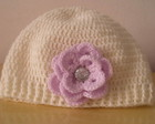Gorro Sarah Boto de Rosa