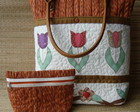 Bolsa  Patchwork- Tulipas